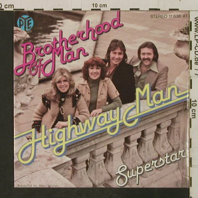 Brotherhood of Man: Highway Man / Superstar, Pye / Promo stol(11 638 AT), D, 1977 - 7inch - T2284 - 2,00 Euro