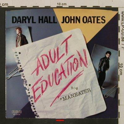 Hall,Daryl & John Oates: Adult Education / Maneater, m-/vg+, RCA(PB-13714), US, 1984 - 7inch - T2291 - 1,50 Euro