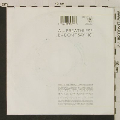 Lazlo,Viktor: Breathless / Don't Say No, Polydor(888 479-7), D, 1987 - 7inch - T2294 - 2,00 Euro