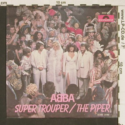 Abba: Super Trouper/The Piper,ONLY Cover, Polydor(2002 012), D, 1980 - Cover - T230 - 1,00 Euro