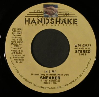 Sneaker: More Than Just The Two Of Us/InTime, Handshake(WS9 02557), US, FLC, 1981 - 7inch - T2368 - 2,50 Euro