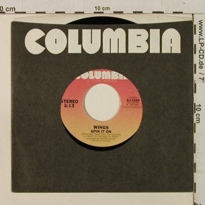 Wings: Spin It On / Getting Closer, FLC, Columbia/Promo-stol(3-11020), US, 1979 - 7inch - T2392 - 4,00 Euro