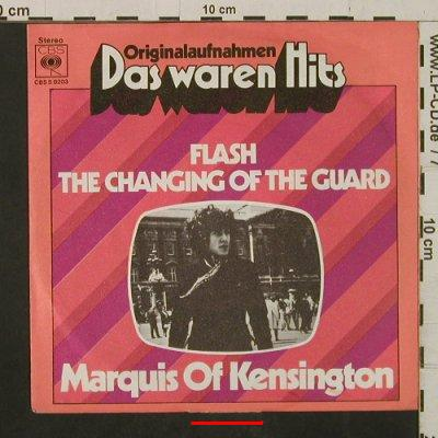 Marquis Of Kensington: Flash / Changing Of The Guard, Ri, CBS(8203), D, m-/vg+, 1967 - 7inch - T2437 - 2,00 Euro