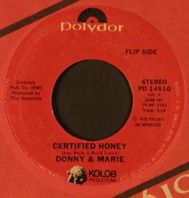 Osmond,Donny & Mary: On the Shelf / Certified Honey, FLC, Polydor(PD 14510), US, 1978 - 7inch - T2500 - 2,50 Euro