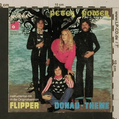 Power,Peter: Flipper / Donau-Theme, m-/VG+, BASF(AC 129 193), D, 1976 - 7inch - T2658 - 2,00 Euro