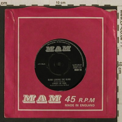 De Paul,Lynsey: All Night / Blind Leading The Blind, MAM, FLC,woc(MAM 99), UK, 1973 - 7inch - T2742 - 2,00 Euro