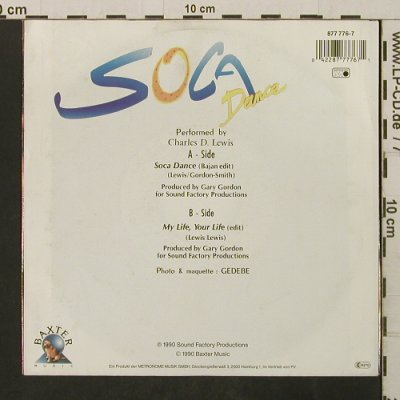 Lewis,Charles D.: Soca Dance/ My Life Your Life, Metronome(877 776-7), D, 1990 - 7inch - T2759 - 2,00 Euro
