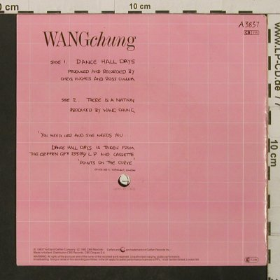 Wang Chung: Dancehall Days / There Is A Nation, Geffen(A 3837), NL, 1983 - 7inch - T2762 - 1,50 Euro