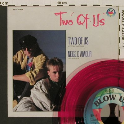 Two Of Us: Two Of Us/Neige d'Amour, red vinyl, Blow Up(INT110.574), D, 1985 - 7inch - T2763 - 2,00 Euro