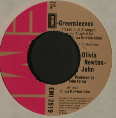 Newton-John,Olivia: Don't Stop Believin'/Greensleeves, EMI, LC(EMI 2519), UK, 1976 - 7inch - T2825 - 1,50 Euro