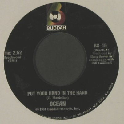 Ocean: Put Your Hand In The Hand, Buddah(BG 16), US. LC, 1985 - 7inch - T2826 - 2,00 Euro
