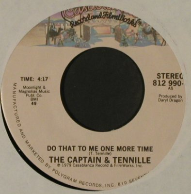 Captain & Tenille: Do That To Me One More Time, Casabl., LC(812 990-7), US, 1979 - 7inch - T2829 - 1,50 Euro