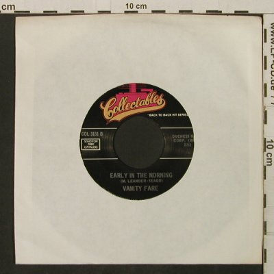Vanity Fair: Hitchin' A Ride/Early In TheMorning, Collectables(COL 3131), US, LC,  - 7inch - T2830 - 2,00 Euro