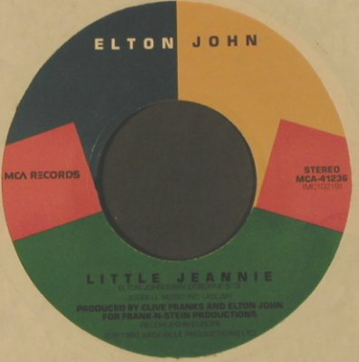 John,Elton: Conquer The Sun/ Little Jeannie, LC, MCA(MCA-41236), US, 1980 - 7inch - T2835 - 2,00 Euro