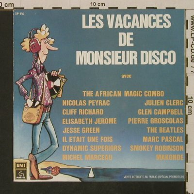 V.A.Les Vacances de Monsieur Disco: avec u.a.Cliff Richard, Beatles, Pathe,Promo,BlueVinyl(SP 557), F,Foc, 1977 - EP - T2866 - 7,50 Euro