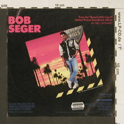 Seger,Bob: Shakedown / The Aftermath, MCA(254782-1), D, 1987 - 7inch - T298 - 3,00 Euro