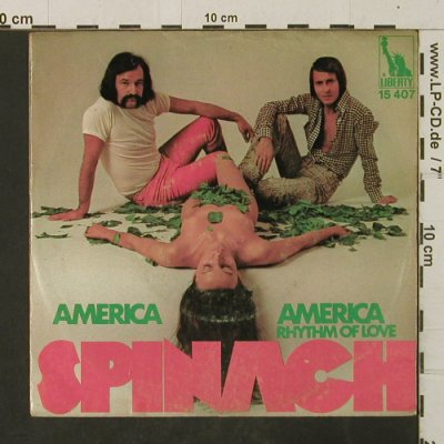 Spinach (Michalel Holm&G. Moroder): America America / Rhythm Of Love, Liberty(15 407), D, vg+/vg+,  - 7inch - T3067 - 2,50 Euro