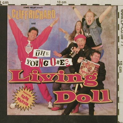 Richard,Cliff & The Young Ones: Living Doll / Happy (by Young Ones), WEA(248 764-7), D, 1986 - 7inch - T3083 - 3,00 Euro