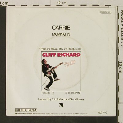 Richard,Cliff: Carrie / Moving In, EMI(006-07 188), D, 1979 - 7inch - T3115 - 3,00 Euro