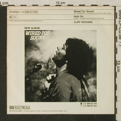 Richard,Cliff: Wired For Sound / Hold On, EMI(006-07 545), D, 1981 - 7inch - T3116 - 2,50 Euro