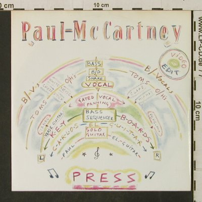 McCartney,Paul: Press / It's Not True, vg+/m-, Parlophone(20 1341 7), EEC, 1986 - 7inch - T3145 - 3,00 Euro