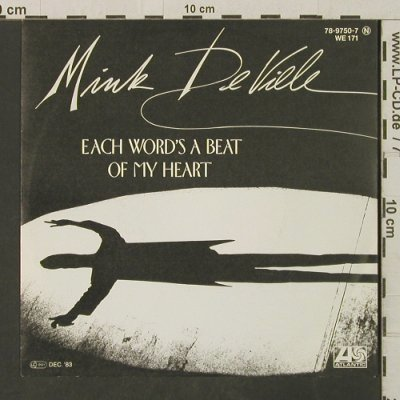 De Ville,Mink: Each Word's A Beat Of My Heart, Atlantic(78-9750-7), D, 1983 - 7inch - T3202 - 2,00 Euro