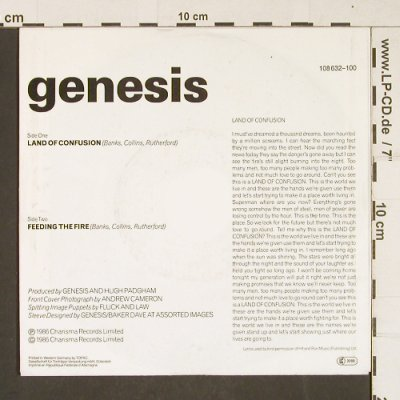 Genesis: Land Of Confusion, Virgin(108632-100), D, 1986 - 7inch - T324 - 2,00 Euro