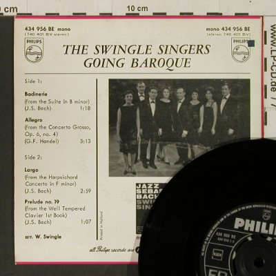 Swingle Singers: Going Baroque, Philips(434 956 BE), NL, vg+/m-,  - EP - T3278 - 3,00 Euro