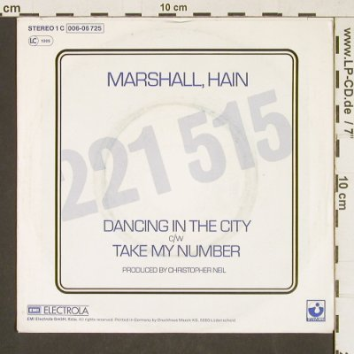 Marshall,Hain: Dancing In The City, m-/vg+, Harvest(006-06 725), D, 1978 - 7inch - T332 - 1,50 Euro