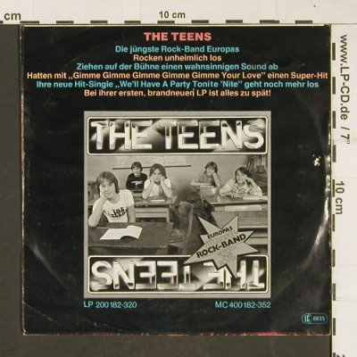 Teens: We'll Have A Party Tonite' Nite, Hansa(100 077-100), D, 1978 - 7inch - T334 - 2,50 Euro