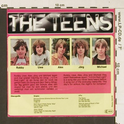 Teens: 1-2-3-4 Red Light, Hansa(100 819-100), D, 1979 - 7inch - T335 - 3,00 Euro