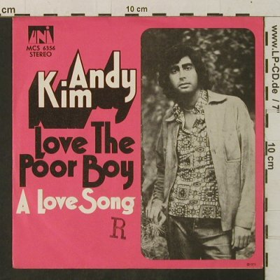 Kim,Andy: Love The Poor Boy, stamp on cover, UNI(MCS 6356), D, 1972 - 7inch - T3395 - 2,50 Euro