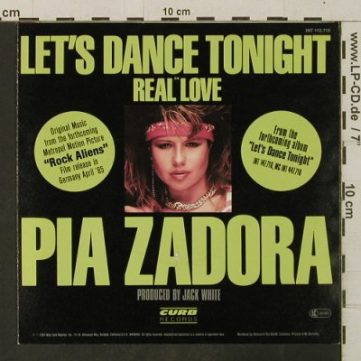 Zadora,Pia: Let's Dance Together / Real Love, Curb(INT 112.716), D, 1984 - 7inch - T3430 - 2,00 Euro