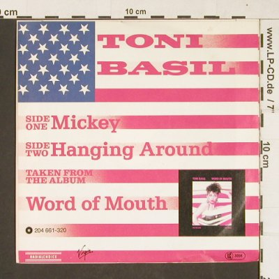 Basil,Toni: Mickey / Hanging Around, Virgin(104 159-100), D, 1981 - 7inch - T344 - 4,00 Euro