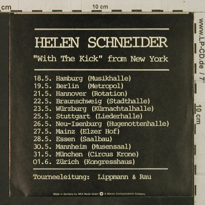 Schneider,Helen w.t.Kick: Shadows Of The Night/Let Me Touch Y, WEA(18 725), D, 1981 - 7inch - T3454 - 2,50 Euro