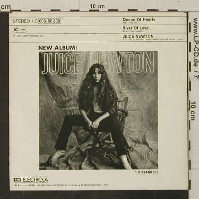 Newton,Juice: Queen Of Hearts/River Of Love, Capitol(006-86 388), D, 1981 - 7inch - T3461 - 2,50 Euro