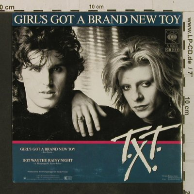 T.X.T.: Girl's Got A Brand New Toy/Hot Was, CBS(A 6073), D, 1985 - 7inch - T3476 - 2,00 Euro