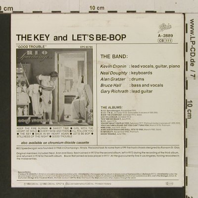 Reo Speedwagon: The Key / Let's Be-Bop, Epic(A-2889), NL, 1982 - 7inch - T3497 - 2,00 Euro