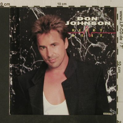 Johnson,Don: Heartbeat / Can't Take Your Memory, Epic(EPC 650064 7), NL, 1986 - 7inch - T3640 - 1,50 Euro