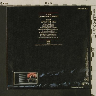 Finlayson,Willy: On The Air Tonight / After The Fall, PRT(106 594-100), D, 1984 - 7inch - T3665 - 2,00 Euro