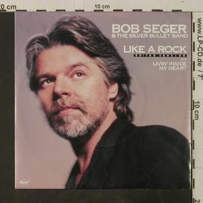 Seger,Bob: Like a Rock,edited vers., Capitol(20 1265 7), D, 1986 - 7inch - T3693 - 2,50 Euro