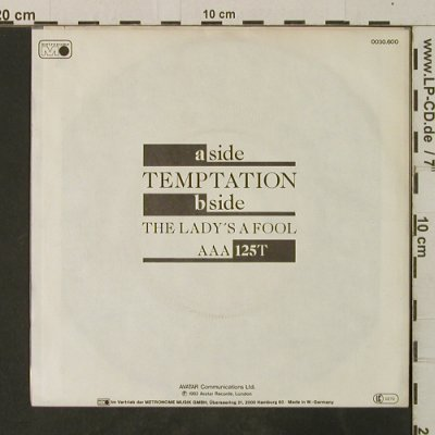 De Blanc: Temptation / The Lady's A Fool, Metronome(0030.600), D, 1982 - 7inch - T3707 - 2,00 Euro