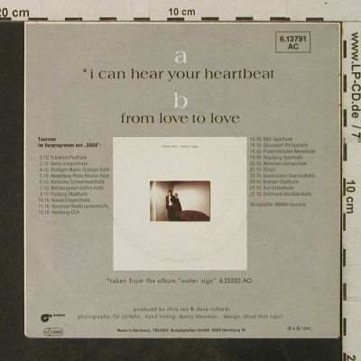 Rea,Chris: I Can Hear Your Heartbeat/From Love, Magnet(6.13791 AC), D, 1983 - 7inch - T3713 - 2,50 Euro
