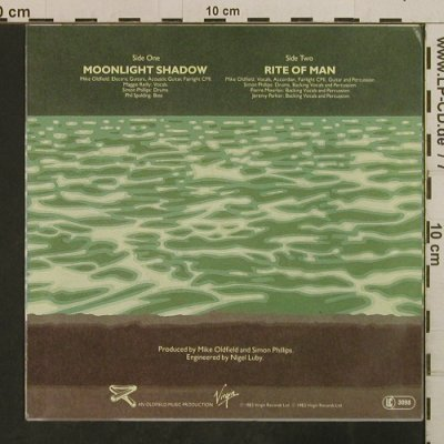 Oldfield,Mike: Moonlight Shadow/Rite Of Man, Virgin(105 390-100), D, 1983 - 7inch - T3791 - 2,50 Euro