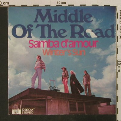 Middle Of The Road: Samba d'amour, vg+/vg+, Ariola(12 990 AT), D, 1973 - 7inch - T3822 - 1,50 Euro