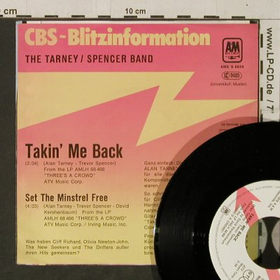 Tarney / Spencer Band: Talkin' me Back, AM/CBS BlitzPromo(AMS S 6648), D,  - 7inch - T3832 - 3,00 Euro