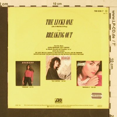 Branigan,Laura: The Lucky One, Atlantic(789636-7), D, 1984 - 7inch - T392 - 2,00 Euro