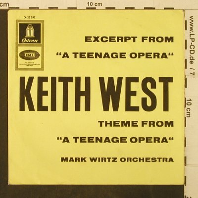 "West,Keith: ""A Teenage Opera"",Theme from, Odeon-OnlyCover(O 23 597), D,vg+,  - Cover - T3930 - 2,50 Euro"