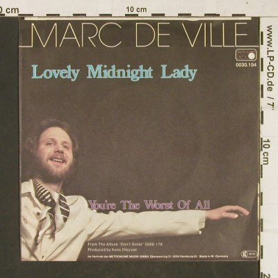 de Ville,Marc: Lovely Midnight Lady, Metronome(0030.194), D, 1979 - 7inch - T394 - 2,00 Euro