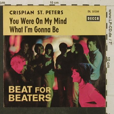St.Peters,Crispian: You were on my Mind,Only Cover, Decca(Beat for Beaters)(DL 25 230), D,  - Cover - T4007 - 3,00 Euro